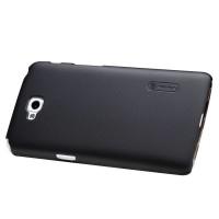 Пластиковый матовый премиум чехол для LG L90 Черный