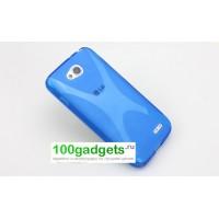Силиконовый чехол X для LG L90 Голубой