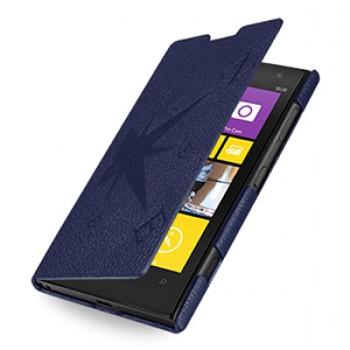 Кожаный чехол книжка горизонтальная (нат. кожа) серия Compass для Nokia Lumia 1020