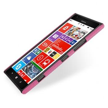 Кожаный чехол Back Cover (нат. кожа) для Nokia Lumia 1520 розовый