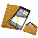 Кожаный чехол мешок-конверт для Nokia Lumia 925