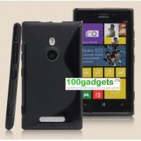 Силиконовый чехол S для Nokia Lumia 925 Черный