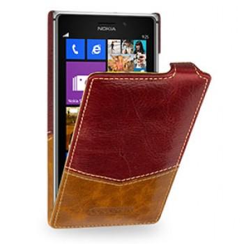 Кожаный эксклюзивный чехол ручной работы вертикальный для Nokia Lumia 925