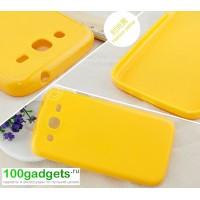 Силиконовый чехол для Samsung Galaxy Mega 5.8 GT-I9152 Желтый