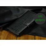 Кожаный чехол портмоне (нат. кожа крокодила) для Samsung Galaxy Mega 6.3 GT-I9200