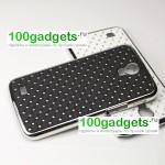 Чехол пластик/металл со стразами для Samsung Galaxy Mega 6.3 GT-I9200
