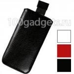 Кожаный мешок для Philips Xenium W8555