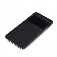 Чехол флип подставка с окном вызова для Meizu MX3 Черный