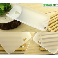 Пластиковый полупрозрачный чехол для Meizu MX3 Белый