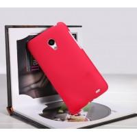 Пластиковый матовый премиум чехол для Meizu MX3 Красный