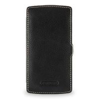 Кожаный чехол смарт книжка горизонтальная (нат. кожа) для Google Nexus 5 Черный