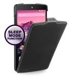 Кожаный чехол смарт книжка вертикальная (нат. кожа) для Google Nexus 5