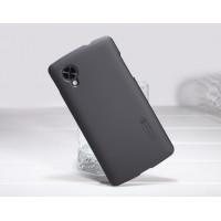 Пластиковый матовый премиум чехол для Google Nexus 5 Черный