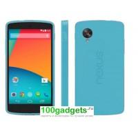 Оригинальный силиконовый чехол для Google Nexus 5 Голубой