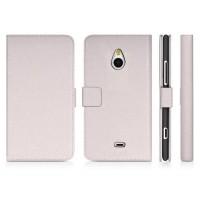 Чехол портмоне подставка для Nokia Lumia 1320 Белый