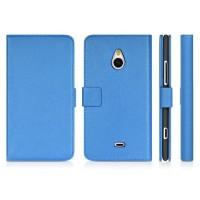 Чехол портмоне подставка для Nokia Lumia 1320 Голубой