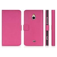 Чехол портмоне подставка для Nokia Lumia 1320 Розовый