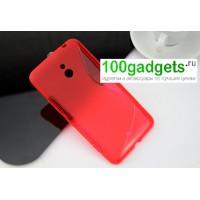 Силиконовый чехол S для Nokia Lumia 1320 Красный