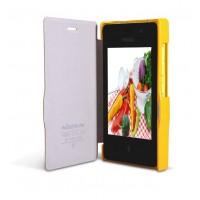 Чехол флип серия Colors для Nokia Asha 502 Желтый
