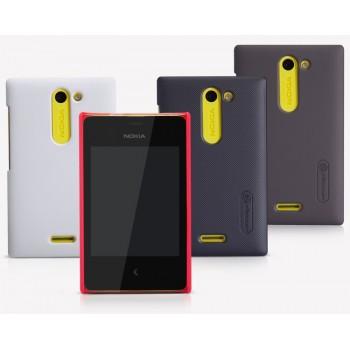 Пластиковый матовый премиум чехол для Nokia Asha 502