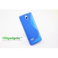 Силиконовый чехол S для Nokia 515 Голубой