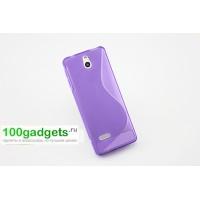 Силиконовый чехол S для Nokia 515 Фиолетовый