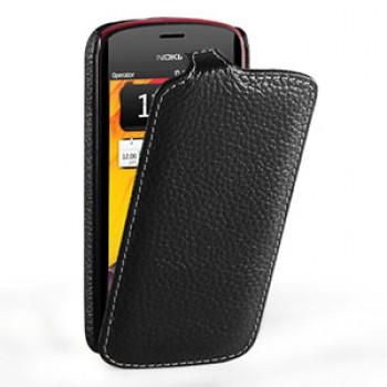 Кожаный чехол книжка вертикальная (нат. кожа) для Nokia Pure View 808