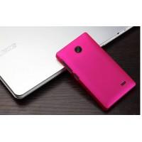Пластиковый чехол для Nokia X Розовый
