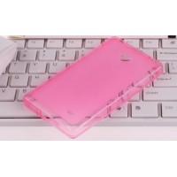 Силиконовый чехол для Nokia X Розовый