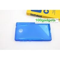 Силиконовый чехол S для Nokia X Голубой