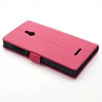 Чехол портмоне подставка для Nokia XL Розовый