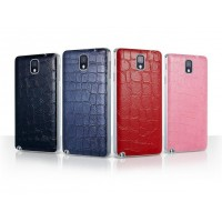 Кожаный чехол крышка-накладка Back Cover (нат. кожа крокодила) для Galaxy Note 3