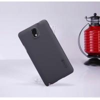Пластиковый матовый нескользящий премиум чехол для Samsung Galaxy Note 3 Черный