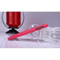 Пластиковый матовый нескользящий премиум чехол для Samsung Galaxy Note 3 Красный