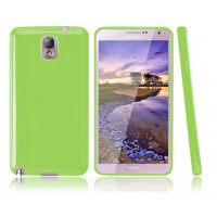 Силиконовый чехол для Galaxy Note 3 Зеленый