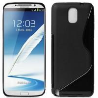 Силиконовый S чехол для Samsung Galaxy Note 3 Черный