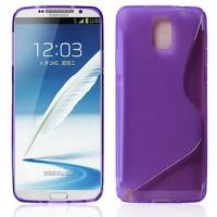 Силиконовый S чехол для Samsung Galaxy Note 3 Фиолетовый