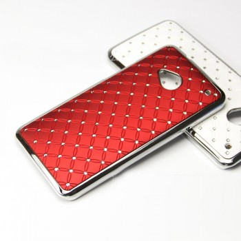 Чехол пластик/металл со стразами для HTC One M7