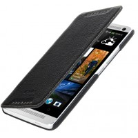 Кожаный чехол книжка горизонтальная для HTC One Max