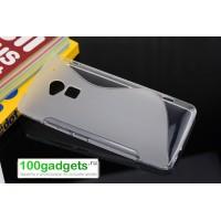 Силиконовый чехол S для HTC One Max Серый