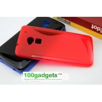 Силиконовый чехол S для HTC One Max Красный
