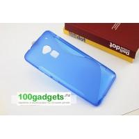Силиконовый чехол S для HTC One Max Синий