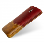 Эксклюзивный кожаный чехол книжка вертикальная (2 вида кожи) для HTC One Mini