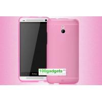 Силиконовый бампер для HTC One Mini Розовый
