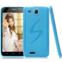 Силиконовый чехол S для Alcatel One Touch Idol Ultra Голубой
