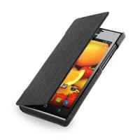 Кожаный чехол книжка горизонтальная (нат. кожа) для Huawei Ascend P1