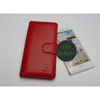Кожаный чехол портмоне (нат. кожа) для Huawei Ascend P6 Красный