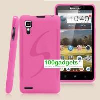 Силиконовый нескользящий матовый чехол для Lenovo P780 Ideaphone Розовый