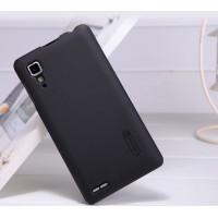Пластиковый матовый чехол премиум для Lenovo P780 Ideaphone Черный