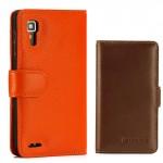Кожаный чехол портмоне (нат. кожа) для Lenovo P780 Ideaphone